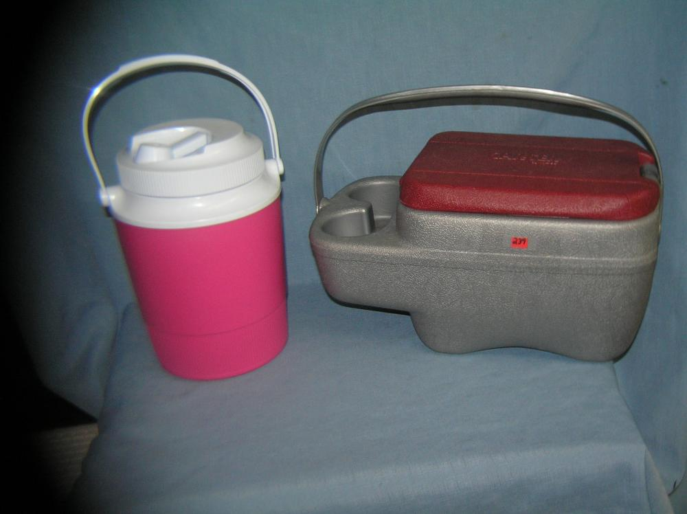 Lot 239: PAIR OF AUTO, BEACH OR BARBECUE COOLERS