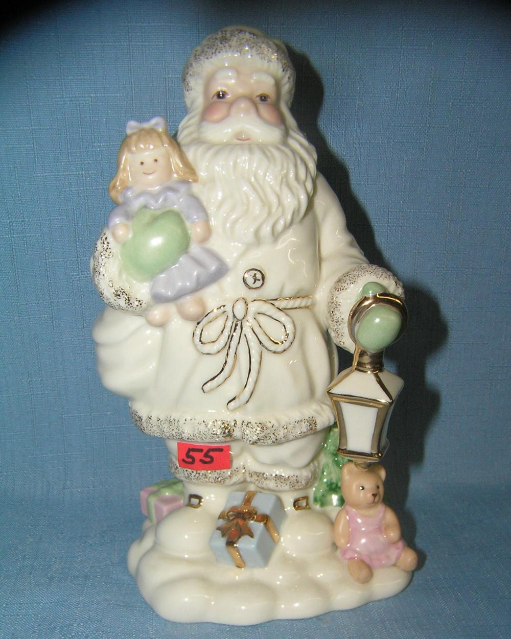 SIGNED LENOX SANTA CLAUS WITH GIFTS