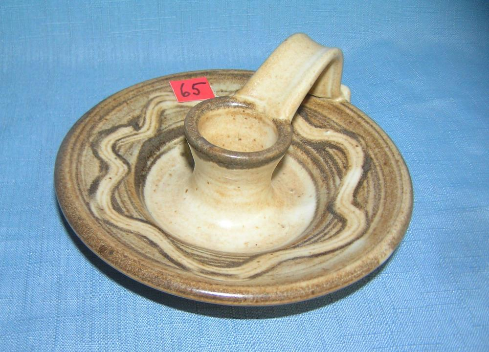 QUALITY ART POTTERY DECORATIVE CANDLEHOLDER