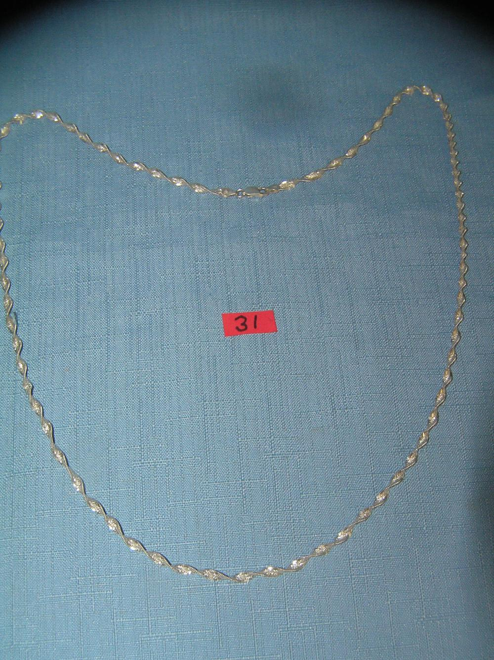 SIGNED ITALIAN SILVER MARKED 925 FANCY NECKLACE