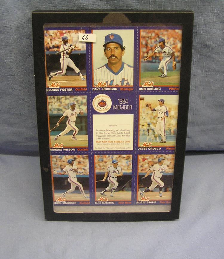 Vintage Ny Mets All Star Baseball Cards Uncut Sheet