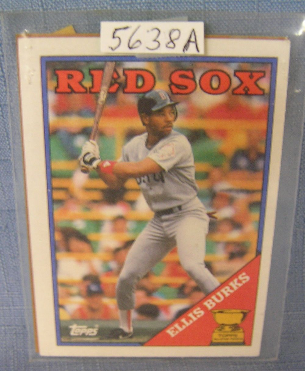 Ellis Burks Rookie Baseball Card