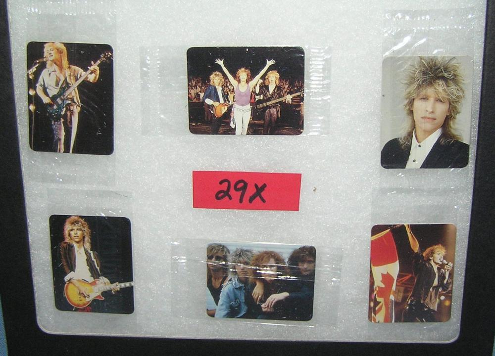 Group of 6 Platinum Blond rock band mini cards