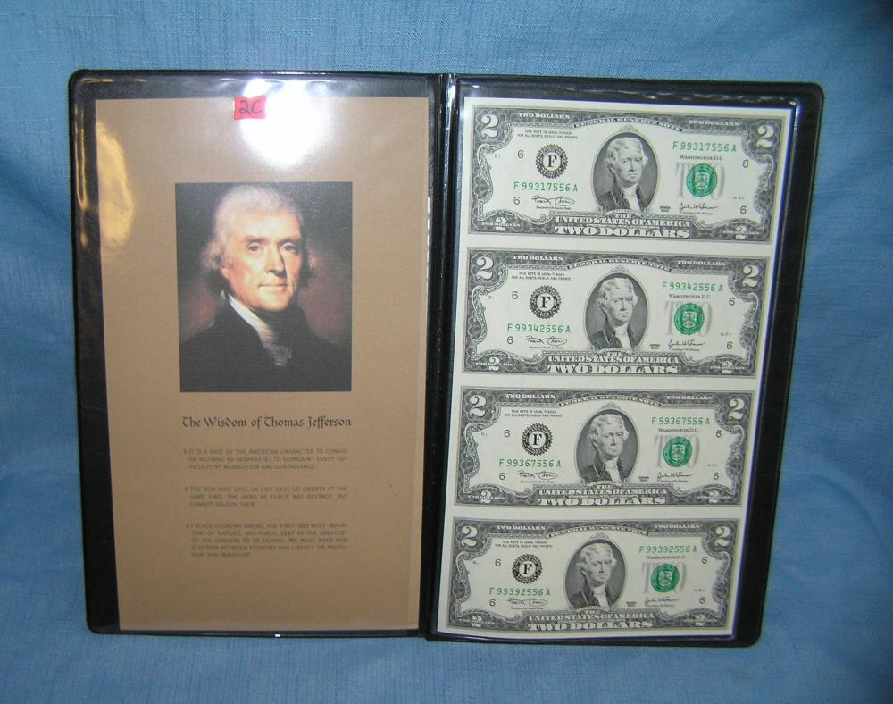 THOMAS JEFFERSON $2.00 BILL COLLECTION