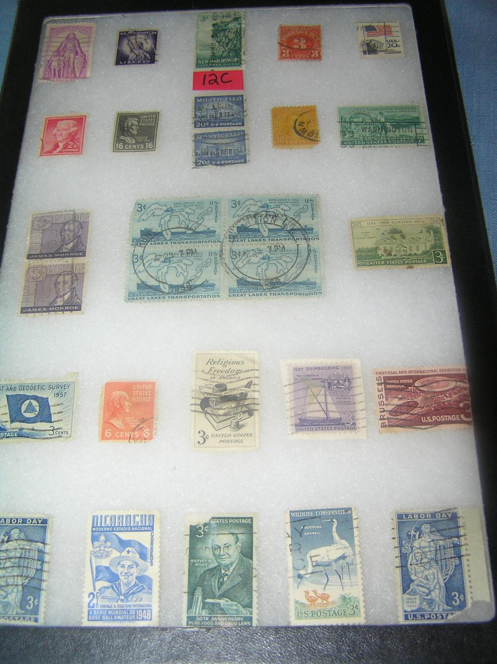 GROUP OF EARLY US POSTAGE STAMPS