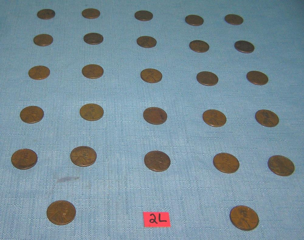 COLLECTION OF EARLY LINCOLN WHEAT BACK PENNIES