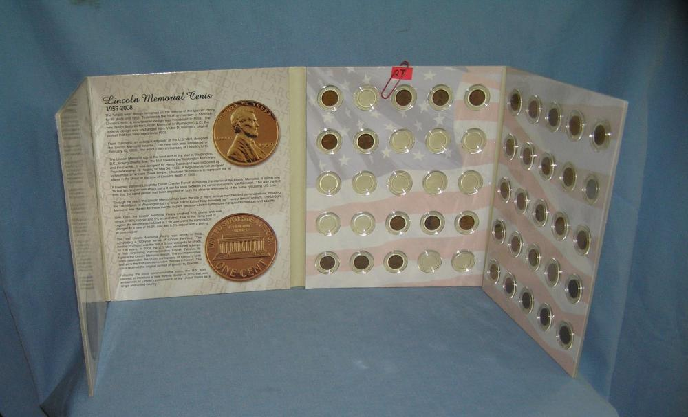 ABRAHAM LINCOLN PENNY COLLECTION 1909-1958