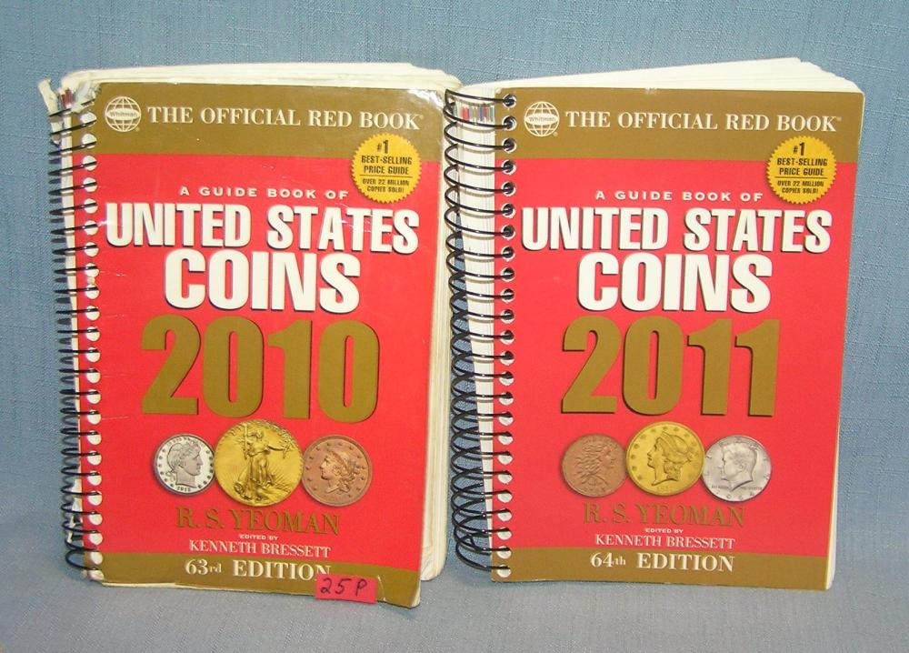 PAIR OF COIN COLLECTING BOOKS WITH PRICES