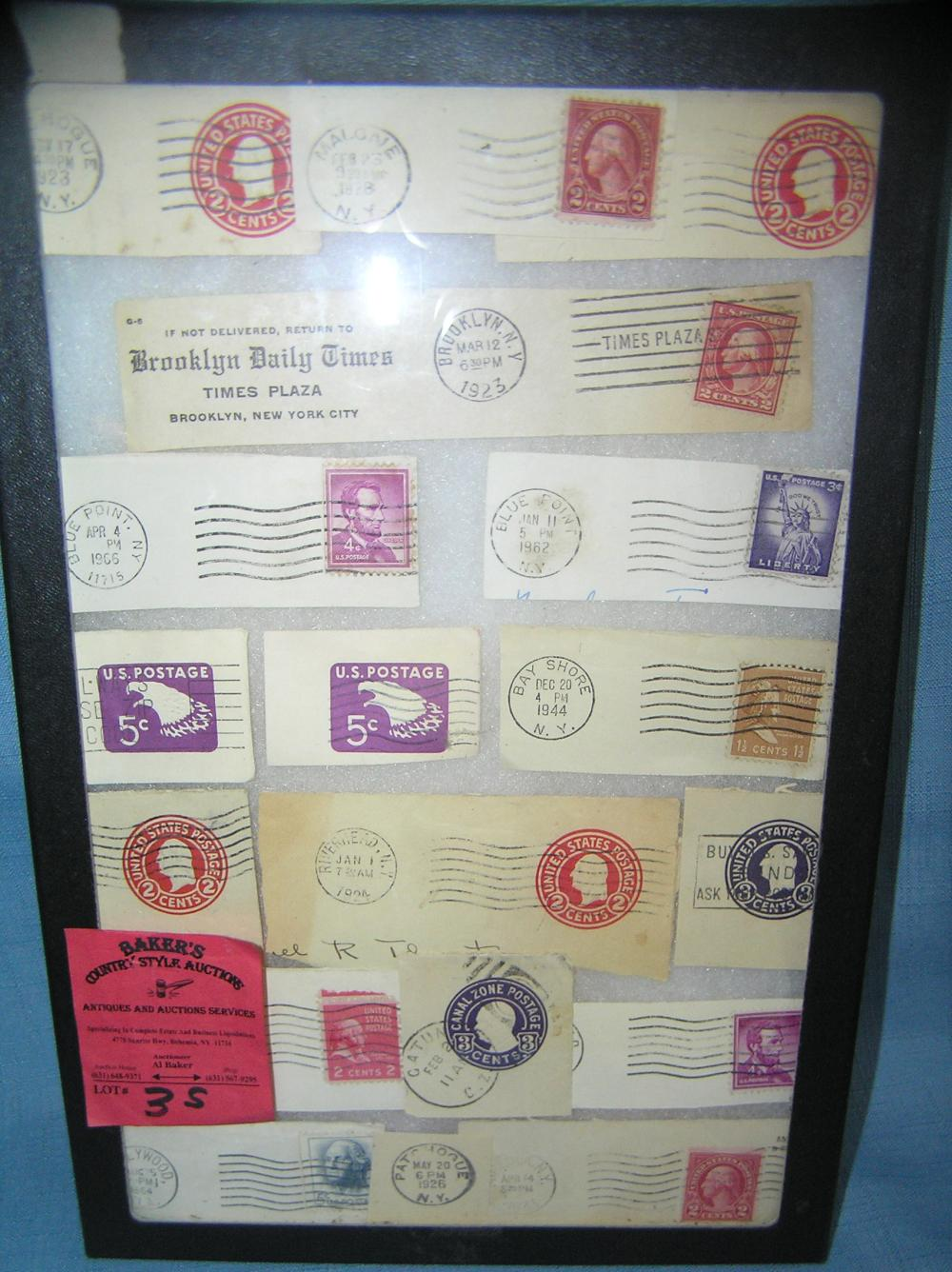 COLLECTION OF EARLY US POSTAGE STAMPS AND POSTMARKS