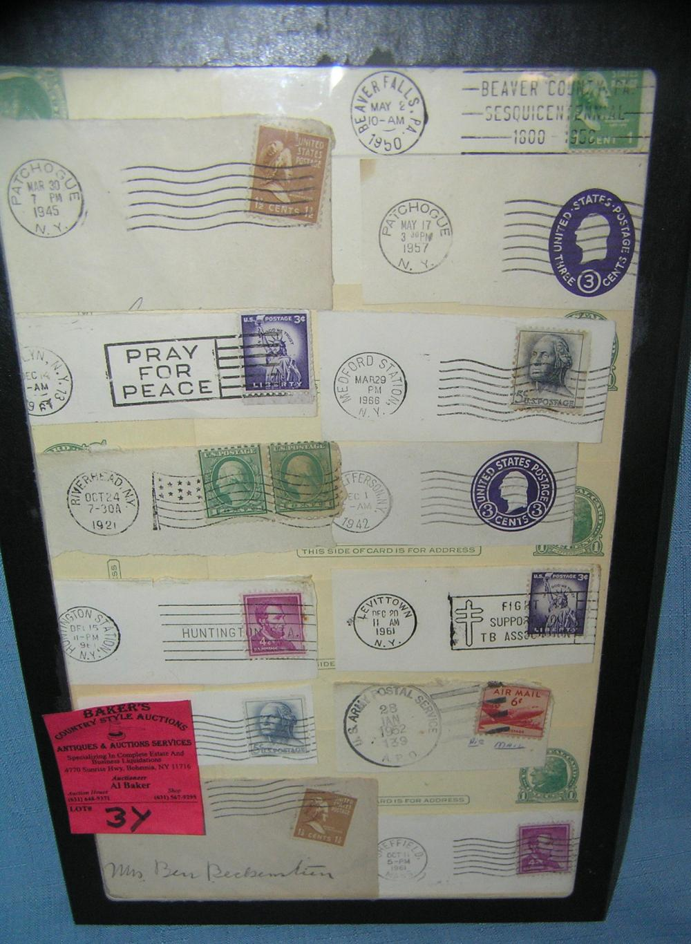 COLLECTION OF EARLY STAMPS, POSTMARKS AND POSTAL CARDS