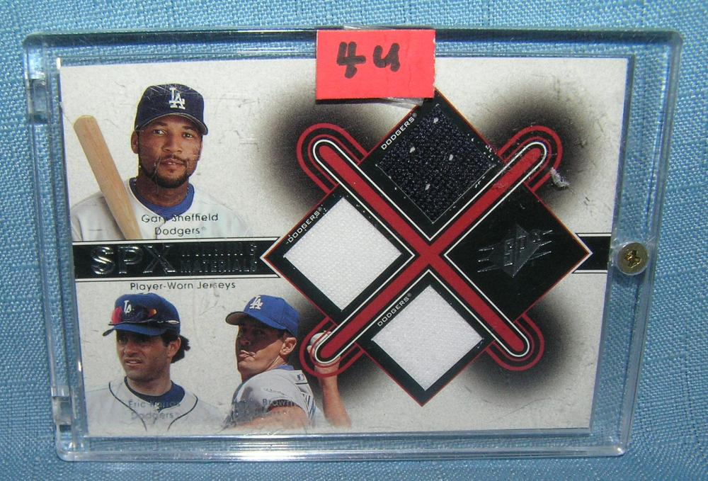 GARY SHEFFIELD, KEVIN BROWN AND ERIC KARROS BB CARD