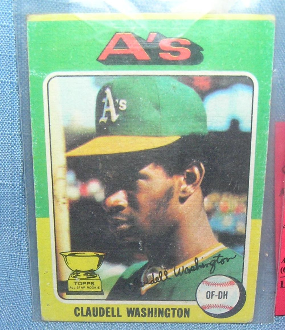 VINTAGE CLAUDELL WASHINGTON ALL STAR ROOKIE BASEBALL CARD