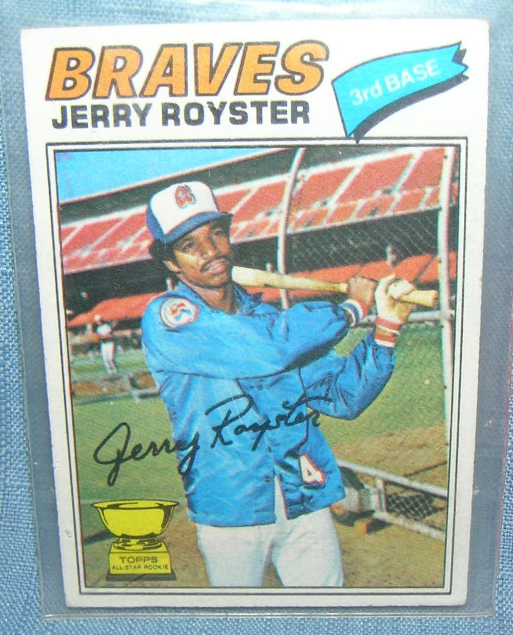 VINTAGE JERRY ROYSTER ALL STAR ROOKIE BASEBALL CARD