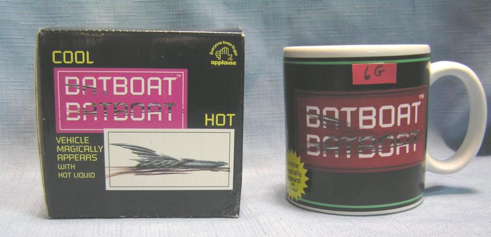 BAT BOAT MYSTERY APPEARING IMAGE COLLECTOR'S MUG