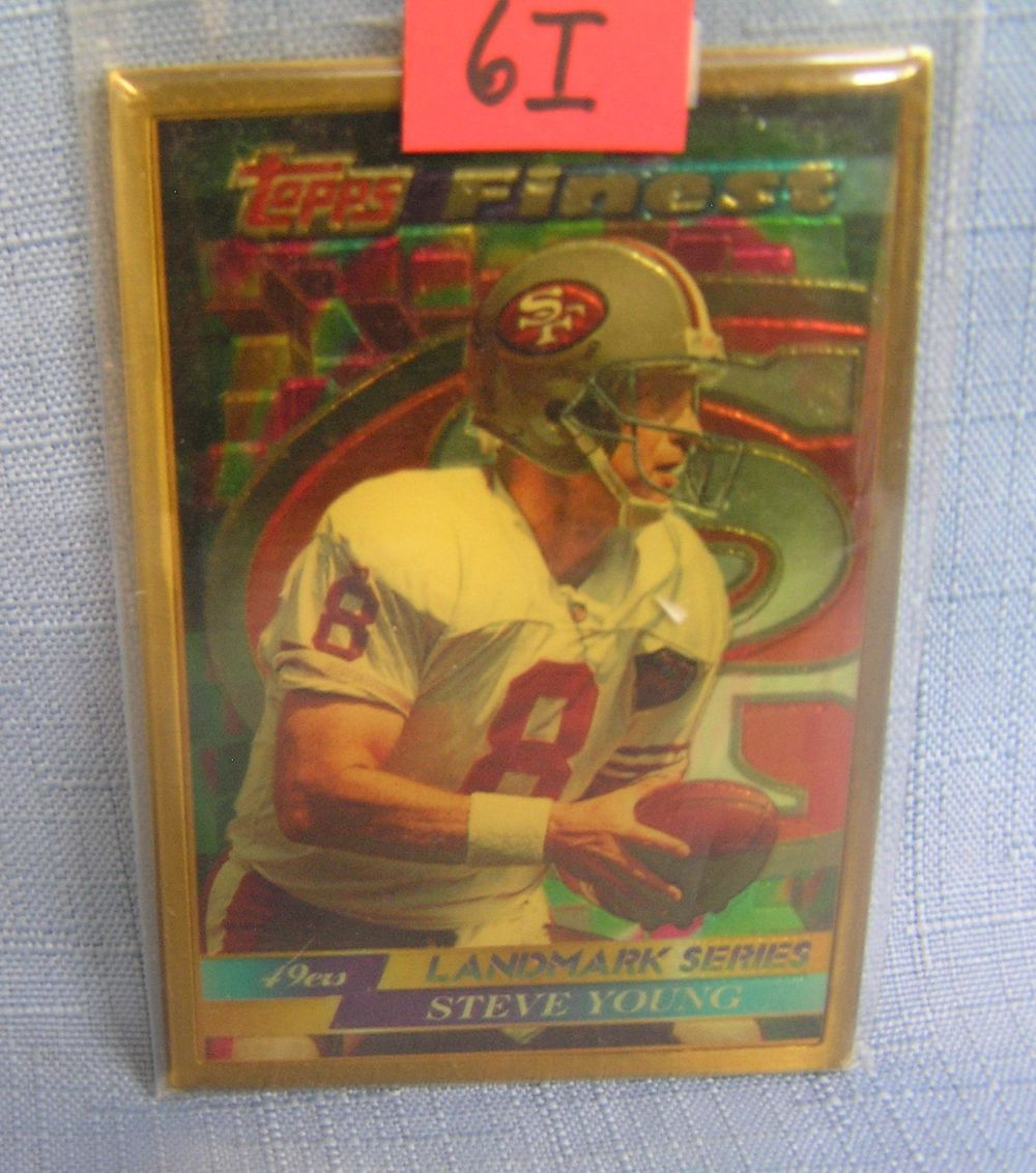 VINTAGE STEVE YOUNG SOLID BRONZE ALL STAR FOOTBALL CARD