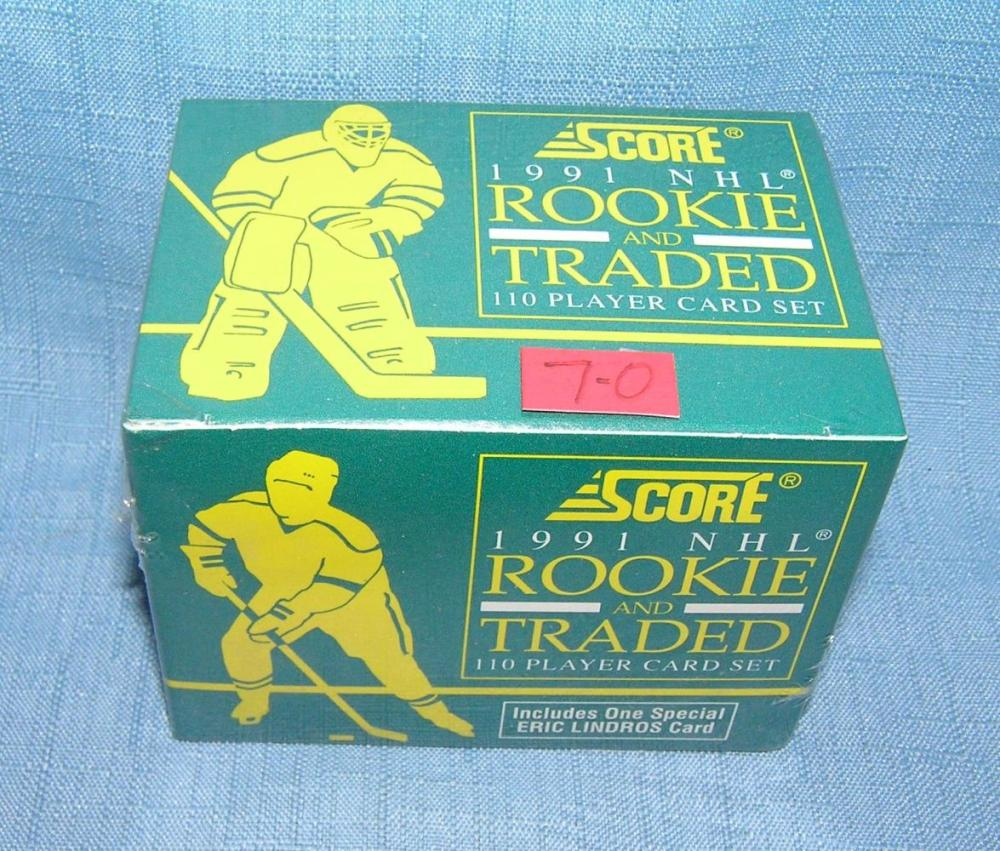 SCORE HOCKEY ROOKIE AND TRADED SEALED CARD SET