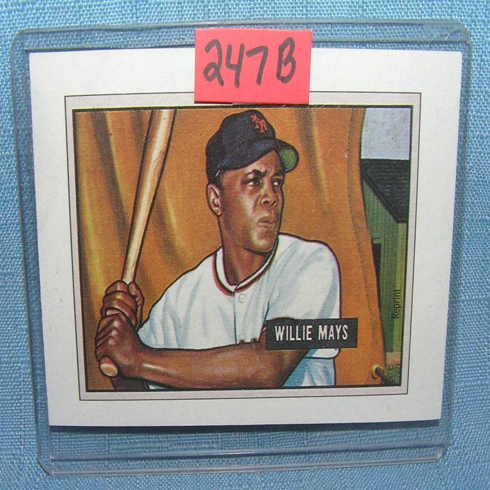 Lot 247b Willie Mays Bowman Reprint Baseball Card