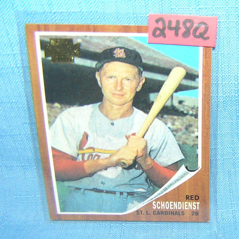 Lot 248q Red Schoendienst Topps Archive Baseball Card