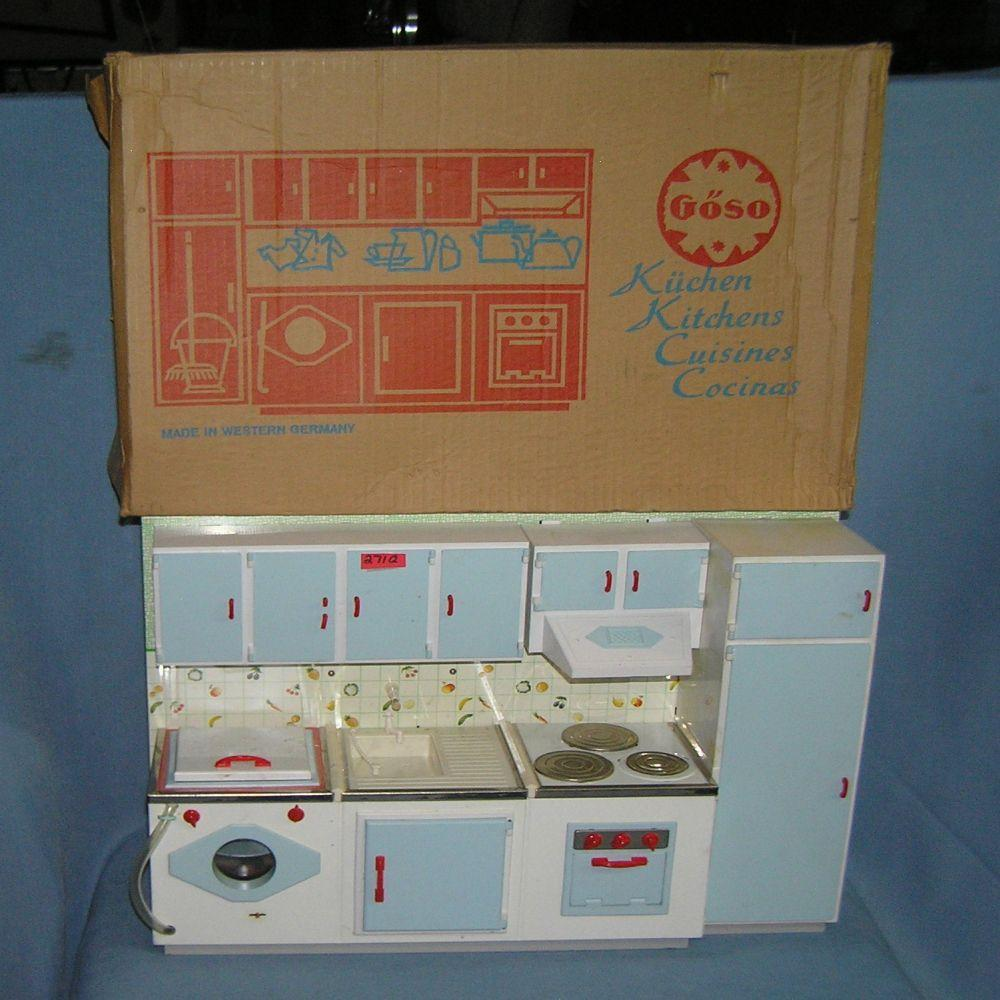 Vintage Tin And Plastic Kitchen Play Set