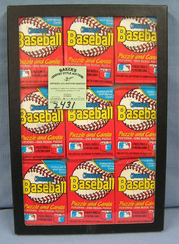 Collection Of Vintage Unopened Baseball Card Packs