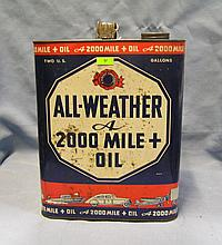 Early all weather oil can