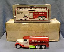 Vintage True Value all cast metal advertising delivery truck bank