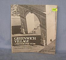 Vintage Greenwich Village photo illustrated book