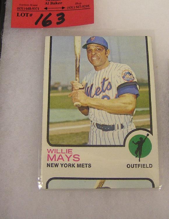 1973 Willie Mays Off Cut Error Baseball Card