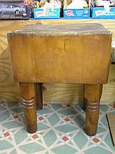 Antique butcher block table