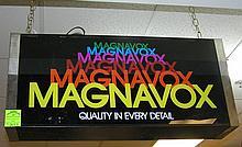 Vintage Magnavox double sided illuminated box sign