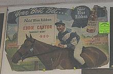 Early Pabst Blue Ribbon sign featuring Eddie Cantor