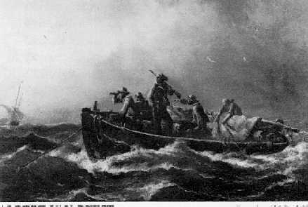 ALBERT VAN BEEST DUTCH, 1820-1860 FISHING BOAT AT SEA Signed lower right
