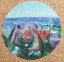 VICTOR DE CARLO (1916-1973) Through the Porthole, 1963, Oil on canvas