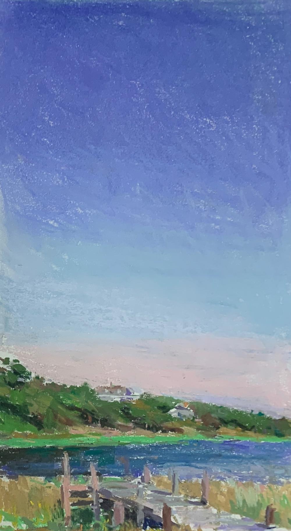 LARRY HOROWITZ (1956- ) Tall Dock, Pastel