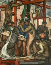 WILLIAM L'ENGLE (1884-1957) Building New York, 1935, Oil on canvas
