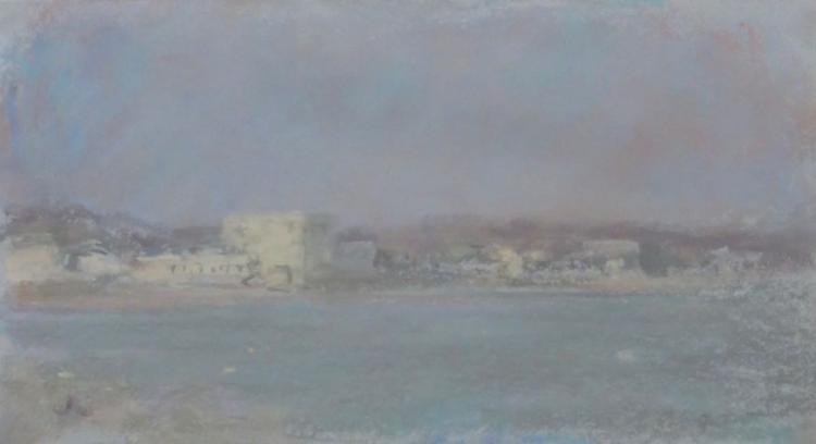 ROB DUTOIT (1956 - ), Blue Green Harbor, 1994, Pastel