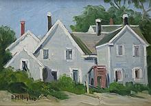 DAISY HUGHES (1882-1968), Provincetown Cottage, Oil on canvas board