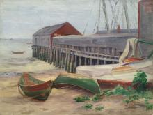 MARION F. BUTTS (1873-1968), Gray Day in Provincetown, Mass, Oil on canvas