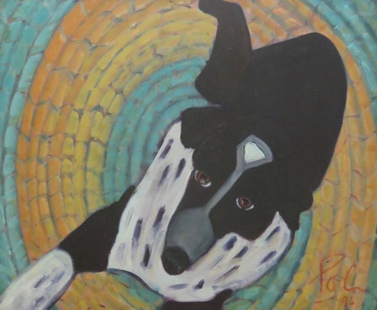 NICOLETTA POLI (1958-2014), Hooked Rug, 1996, Oil on canvas