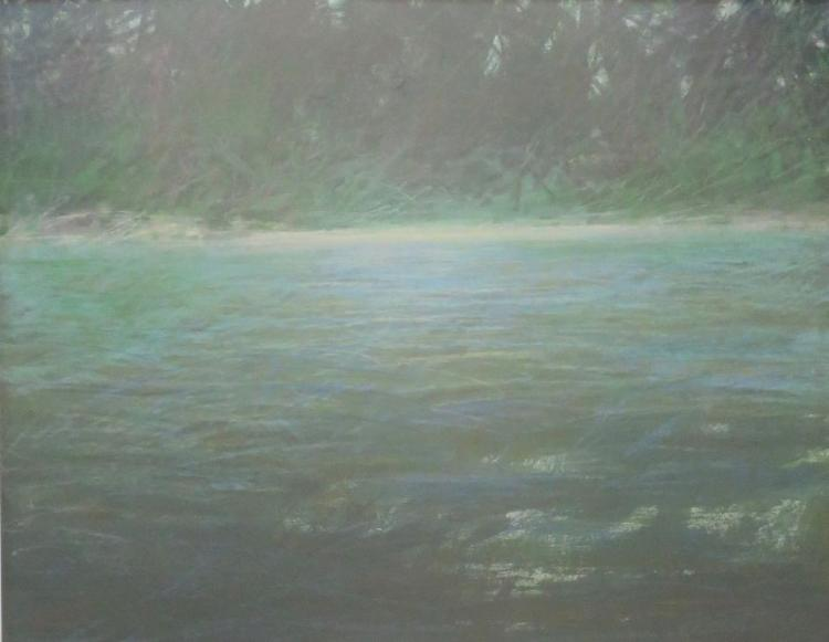 PETER WATTS (1934 - ), Grassy Pond, 1981, Pastel