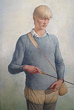 JAMES CHAPIN (1887-1975), Tall Youth Fishing, 1972-1974, Oil