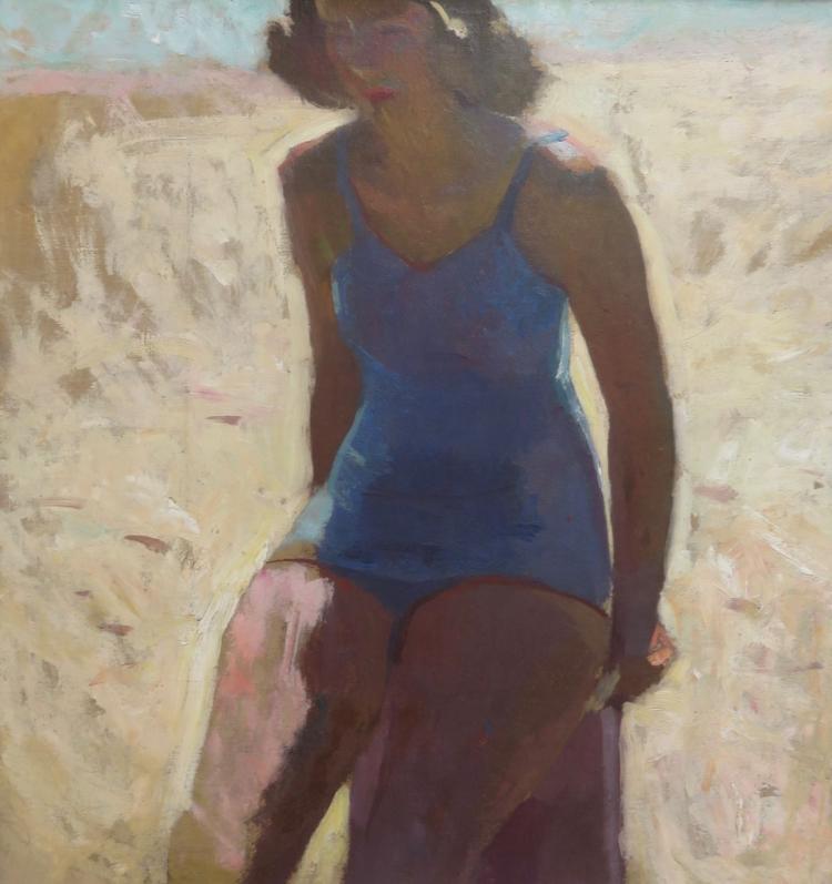 HENRY HENSCHE (1901-1992), Beach Study Mudhead, c. 1930, Oil on canvas