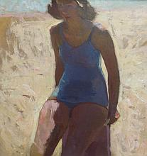 HENRY HENSCHE (1901-1992), Beach Study Mudhead, c. 1930, Oil on canvas