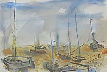 ALBERT KOTIN (1907-1980), Boat, 1957, Watercolor