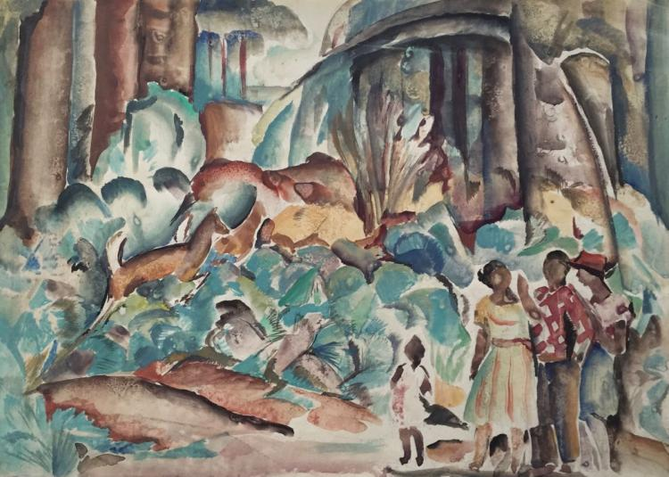 WILLIAM L'ENGLE (1884-1957), Florida, 1930, Watercolor
