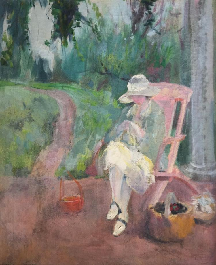 MARGERY RYERSON (1886-1989), Morning On the Porch, c., 1920, Oil on canvas