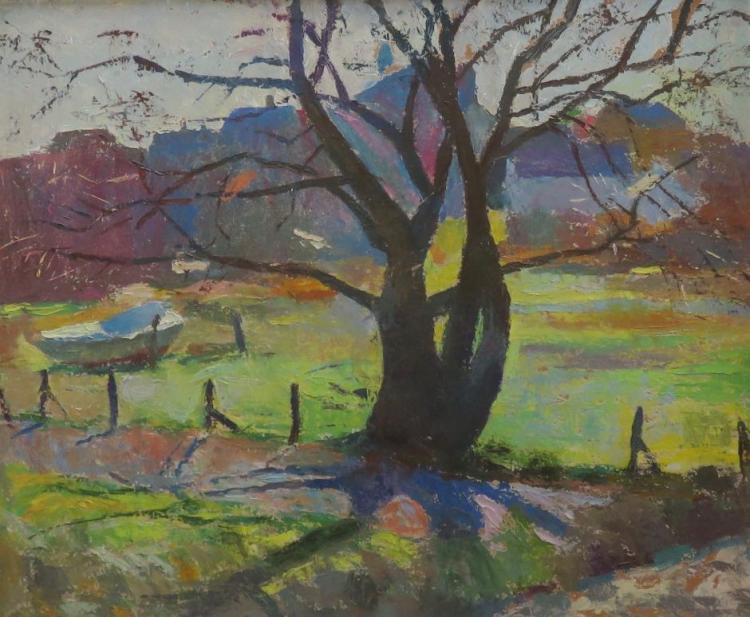 HENRY HENSCHE (1901-1992), Provincetown Landscape, Oil on board