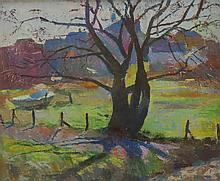HENRY HENSCHE (1901-1992), Provincetown Landscape, Oil on board