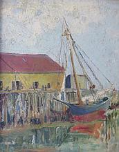 EDWIN REEVES EULER (1896-1982), Provincetown Wharf, Oil on panel