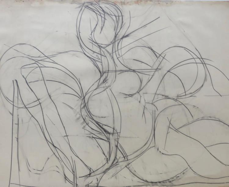 FRITZ BULTMAN (1919-1985), Untitled (Figure Study), 1965, Graphite